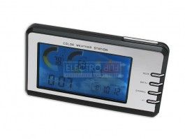 WeatherVU - Color Clock Weather Station #weather #clock #temperature #weatherstation #cold #hot