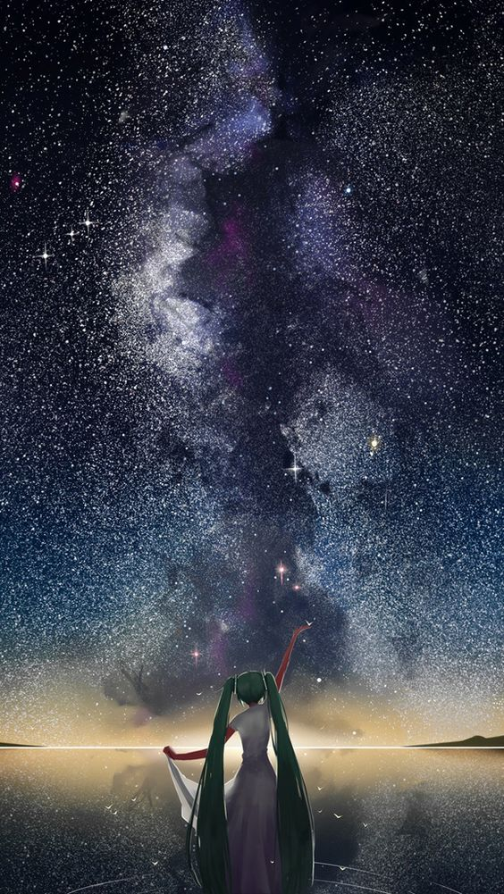 starry sky vocaloid anime iphone wallpapers mobile9