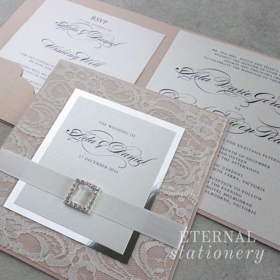 Wedding Invitation Created by Eternal Stationery www.eternalstationery.com.au