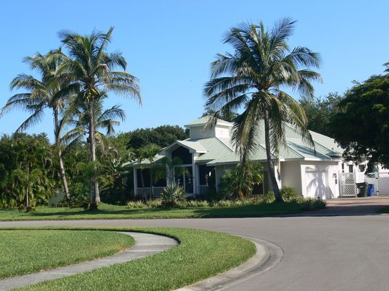 Street shot in Coconut Creek subdivision in Fort Myers, Florida developed by Daniel Wayne Homes