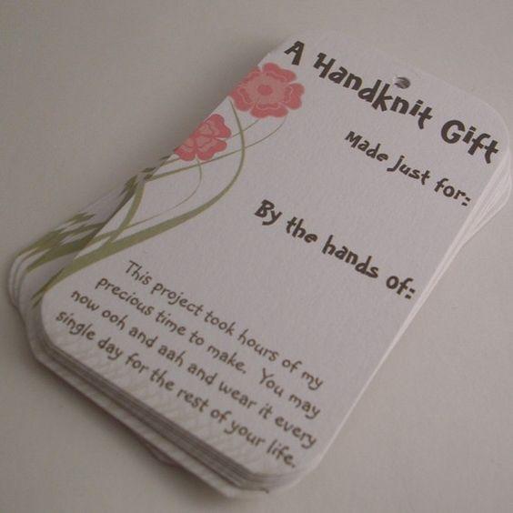 Knitting Labels Free : Knitting gift tags selfish and