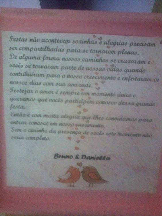 CASO REAL: Convite DIY para padrinhos da Daniella e do Bruno | Casar é um barato