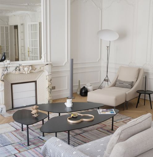 Haussmannien et contemporain architecte d 39 int rieur paris for Deco rideaux salon contemporain