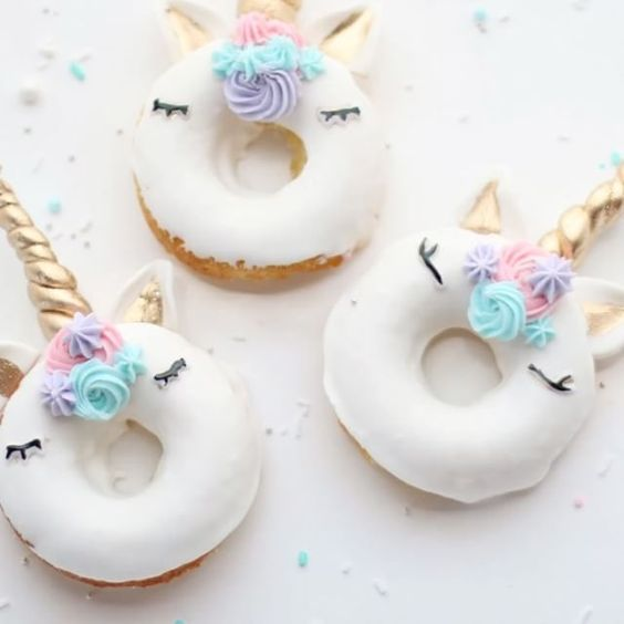 Unicorn donuts :