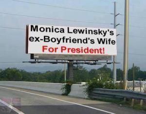 A roundup of the best Hillary Clinton memes from the 2016 campaign, plus classic 'Texts From Hillary.': Monica Lewinsky Ex-Boyfriend's Wife for President