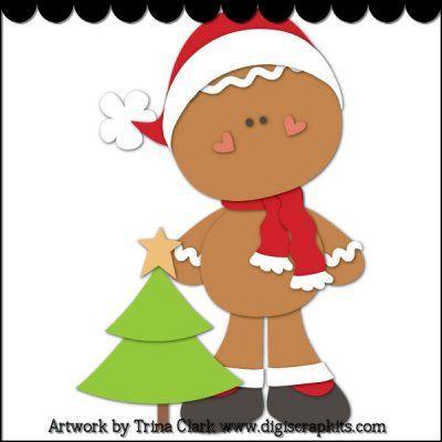 Christmas Gingers 3 Cutting File  mi navidad mara  Pinterest