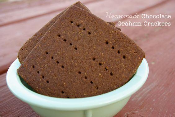 Homemade Chocolate Graham Crackers - super yummy for camp fire smores.