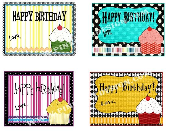 Pink Owl Design: Birthday Tags FREE Printable.................