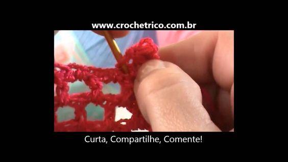 Crochê para Canhotas - Guia de Pontos - Aula 08 - Ponto Caranguejo