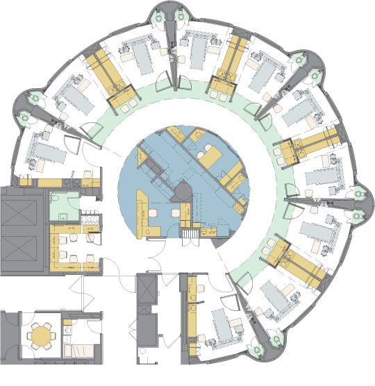 Nurse station floor plan google search healthcare for Floor plan database