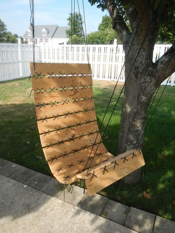 Paracord Laced Pallet, Hanging Chair Step by Step Instructions: