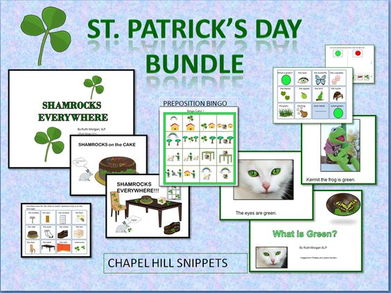 Chapel Hill Snippets: St. Patrick's Day materials---adapted books, bingo, great for SLP/EC collaboration