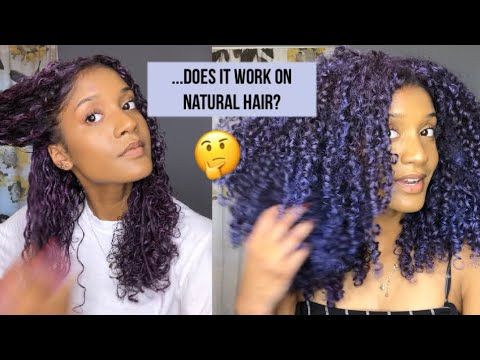 I Tried Temporary Hair Color Wax On My Curls And Mofajang