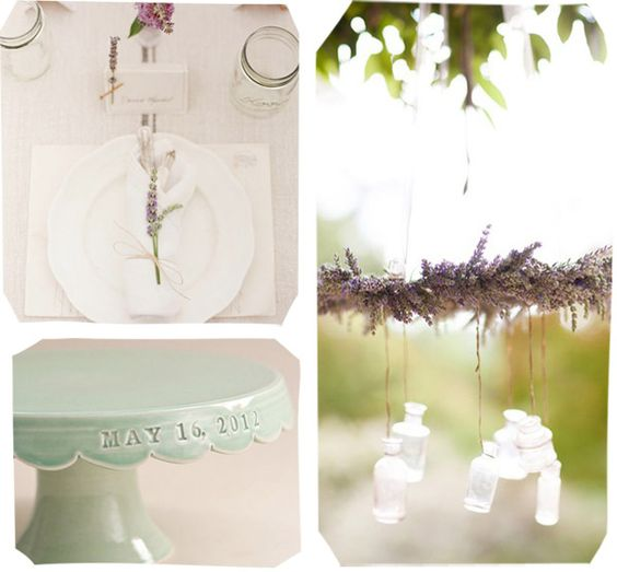 lavender and mint wedding