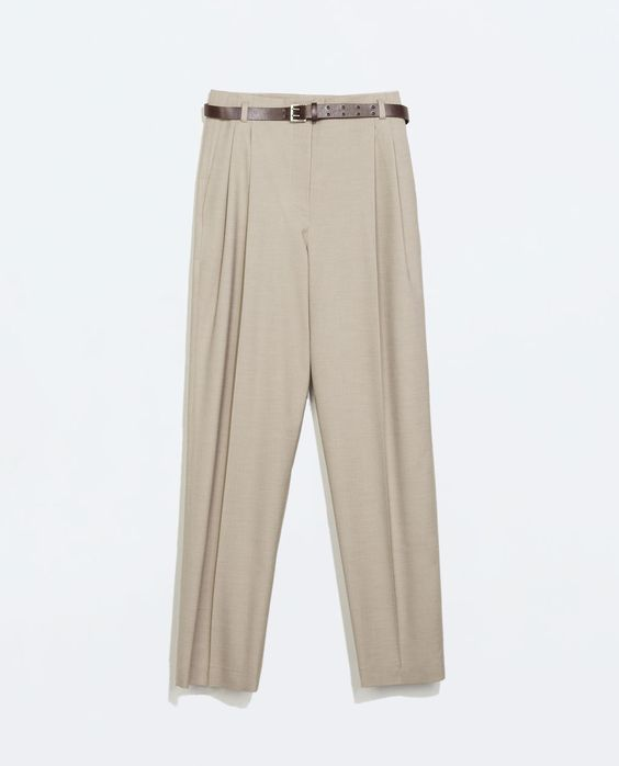 ZARA - WOMAN - HIGH WAISTED TROUSERS WITH BELT