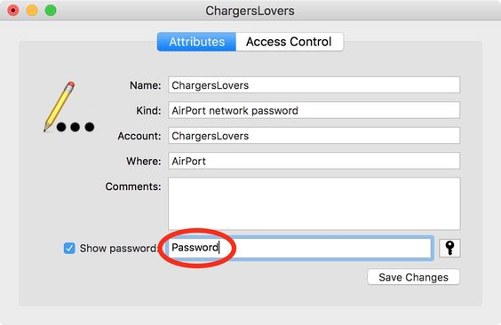 see password for wifi
