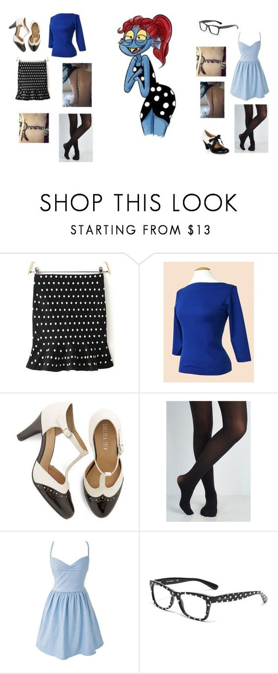 """""""Underswap Date Night: Undyne"""" by alexkaity ❤ liked on Polyvore featuring Chelsea Crew and Dolce&Gabbana"""