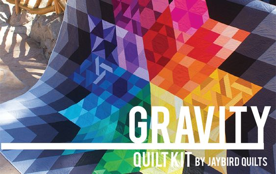 Gravity Quilt Kit by Julie Herman of Jaybird Quilts