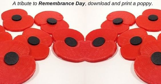 Something we liked from Instagram! Check out the free #poppy download for #remembrancesunday #poppyday http://bit.ly/1WIdueb #3d #3dprinting #3dprinted #3dprinter #3dprint #uk #ww1 by 3dfilemarket check us out: http://bit.ly/1KyLetq