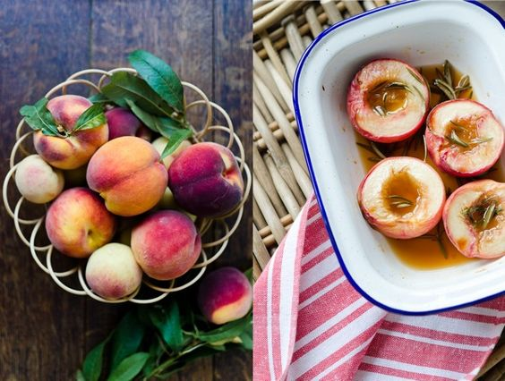 Roasted Peaches with Rosemary | At Down Under