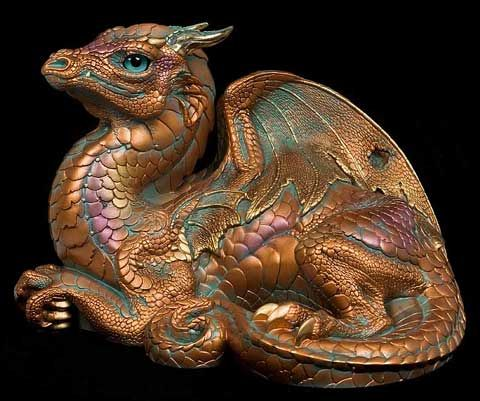 About Windstone Products | Windstone Editions, a pic of our Copper Patina Old Warrior #dragons #collectables #figurines