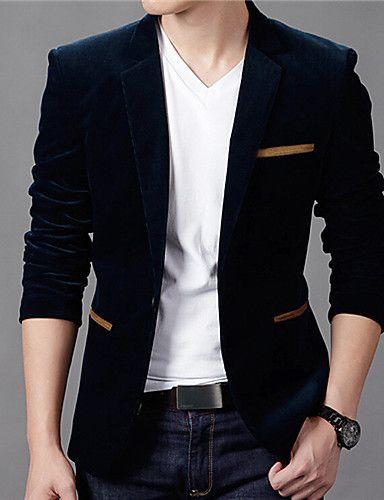 Men's Casual Long Sleeved Blazer