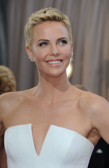 Inspired by Charlize Theron at the Oscars, we've compiled a list of lovely ladies with cropped locks