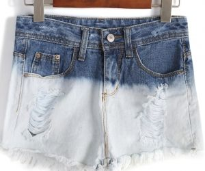 Colour-block Ripped Fringe Denim Shorts. Fashion : Bottoms : Pants Colour-block Ripped Fringe Denim Shorts - See more at: http://spenditonthis.com/cat-13-fashion-newest.html#sthash.zH3GREGj.dpuf