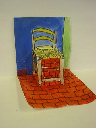 pop up van Gogh chair