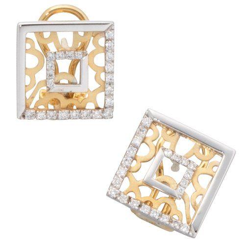 Damen-Ohrschmuck Ohrstecker gelb weiß kombiniert 14 Karat (585) Bicolor 44 Diamant 0.25 ct. Dreambase http://www.amazon.de/dp/B0097PF0O0/?m=A37R2BYHN7XPNV