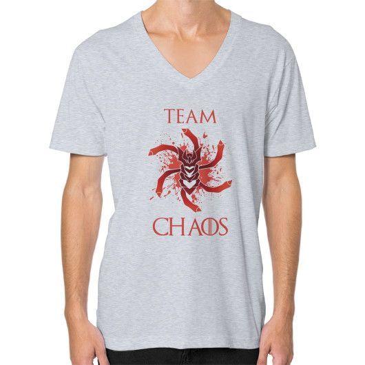 Team Chaos V-Neck (on man)
