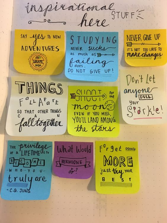 diaryofastudent:  Some of the motivation/inspirational quotes that I can place around my bullet journal throughout the year. I'm pretty pleased with how all of them turned out. Was inspired by @mlstudies version.: