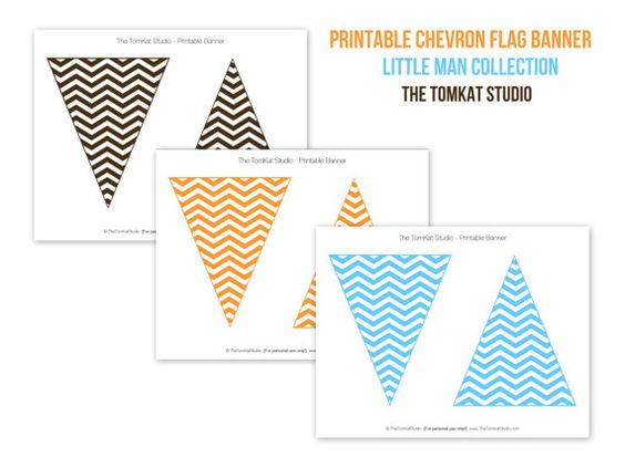 Printable Chevron Flag Banner Hudson S Birthday