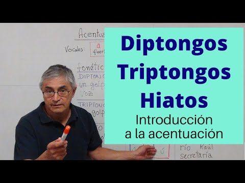 Acentuación En Diptongos Triptongos Hiatos Introducción Youtube In 2020 Interactive Education Publishing