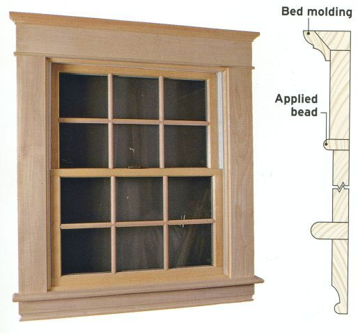 Moulding ideas window wood interior casing replacement for Picture window replacement ideas