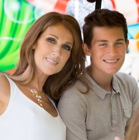 1/25/15 Celine Dion and her son Rene-Charles on his 14th birthday.