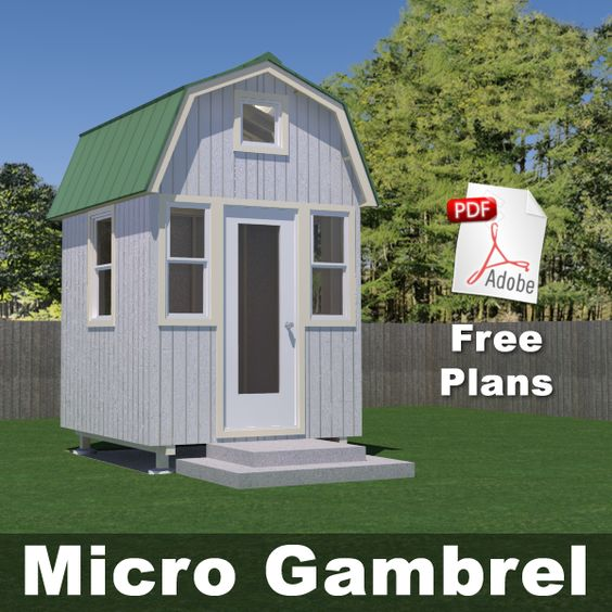 x Tiny Market House   Playhouses  Potting Sheds   Pinterest    Mini House Plans  Free House Plans  Tiny Home Plans  Plans Free  Small House Plans  Plans Micro  Free Floor Plans  House Free  Gambrel Plans