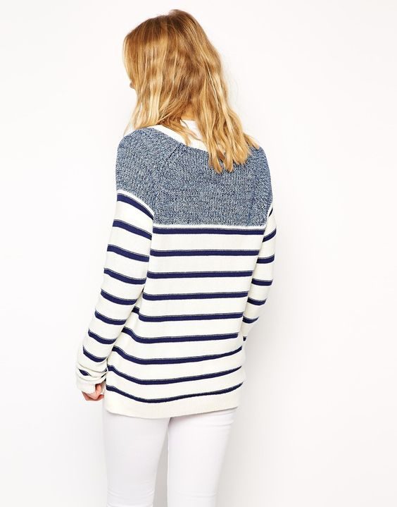 The best time to wear a striped sweater...