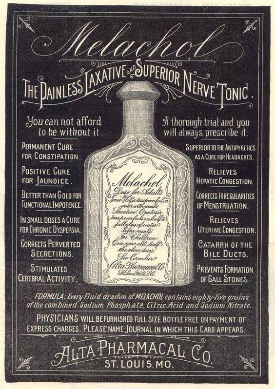 Melachol Nerve Tonic Vintage Advertisement