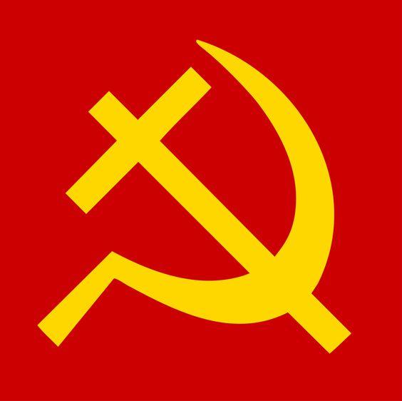 3d Illustration Of Star And Sickle Over Red Star, Soviet Symbol ...