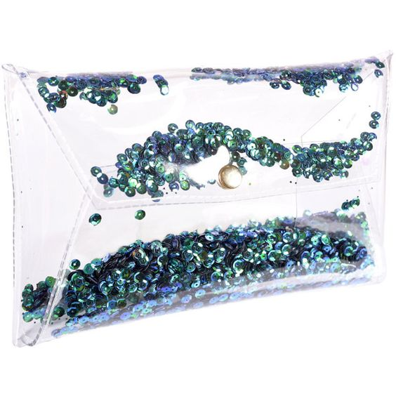Clutch sequin sparkle Clear purse transparent bag clutch sequins jelly... (3.305 RUB) ❤ liked on Polyvore featuring bags, handbags, clutches, white purse, clear purse, party clutches, clear jelly handbags en white clutches