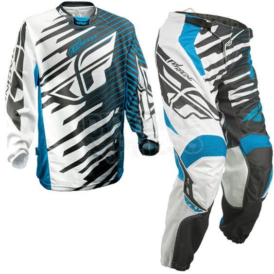 2014 Fly Racing Kinetic Shock Mesh Kit Combo - Blue White