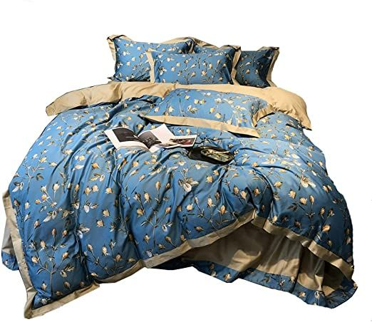 Gfdea Bedding 4 Piece Complete Bed Set Includes X1 Quilt Cover X2 Pillowcases And X1 Fitted Sheet Duvet Cover Sets Size 2 Duvet Cover Sets Bed Cotton Sheets