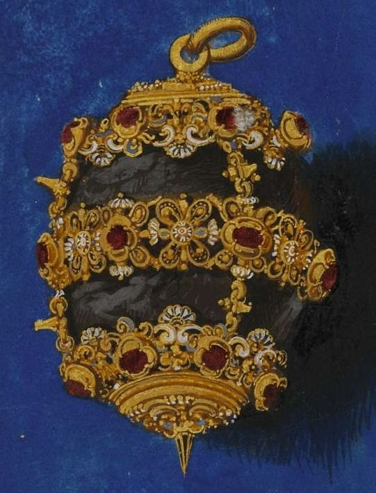 """""""Bezoar"""" The Jewel book of Anna of Bavaria. By Hans Mielich, 1552:"""