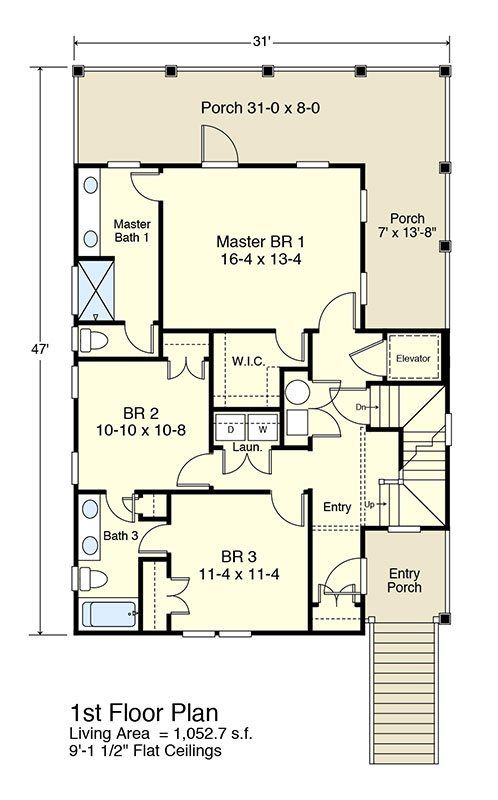 Echo Bay Coastal Home Plans Beach House Plans How To Plan House Plans
