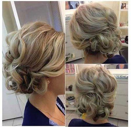 Bridesmaid Updos For Short Hair Short Hair Updo Short Hair Styles Hair Styles
