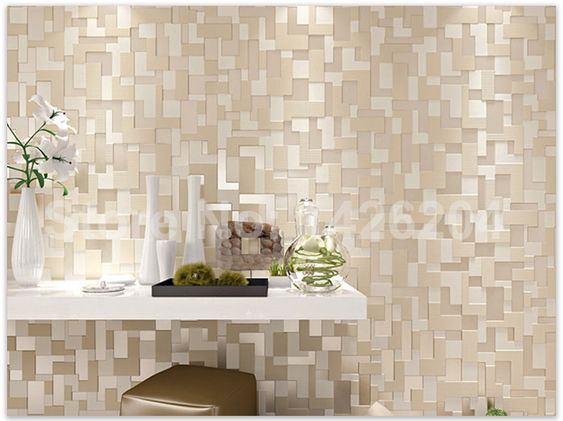 New fashion Modern mosaico 3D papéis de parede para sala  ~ Revestimento Para Meia Parede De Quarto