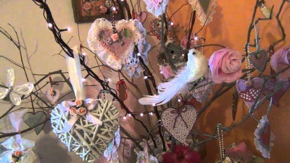 Shabby Chic Valentine's Day Tree & Pink Corner