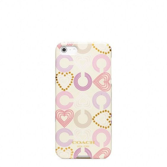Coach Waverly Heart Iphone 5 Case ($38) ❤ liked on Polyvore