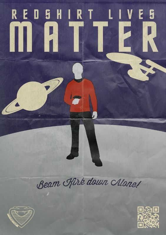 Redshirts' lives matter   Srell al Masri Star Trek 50th anniversary.